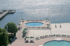 Pools and Lake Royalty Free Stock Images