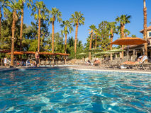 Pools at the Marriott Villas. View of the Pools at the Marriott Villas Desert Springs on November 13, 2015 in Palm Desert, California. The Marriott is popular Royalty Free Stock Photo