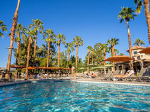 Pools at the Marriott Villas. View of the Pools at the Marriott Villas Desert Springs on November 13, 2015 in Palm Desert, California. The Marriott is popular Royalty Free Stock Images
