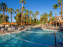 Pools at the Marriott Villas. View of the Pools at the Marriott Villas Desert Springs on November 13, 2015 in Palm Desert, California. The Marriott is popular Royalty Free Stock Photography