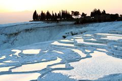 Pools pamukkale Stock Photography