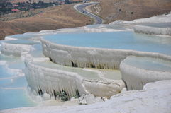 Pools of Pamukkale Royalty Free Stock Photo