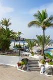 Pools publics Lagos Martianes à Puerto de la Cruz, Ténérife, Espagne Photographie stock libre de droits