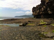 Pools in the rock. Muckross head, Kilcar, Co Donegal, Ireland Stock Image