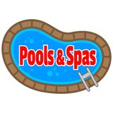 Pools and Spas Royalty Free Stock Photo
