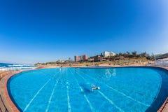 Pools Swim Blue Ocean Beach Stock Photography