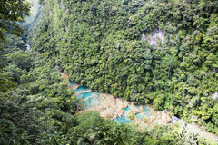 Pools van semuc-champey Stock Foto's