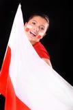 Pools vlag & poetsmiddelmeisje Stock Afbeelding
