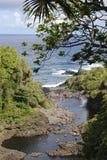 Pools of Wailua Falls. The view of Wailua Falls pools on Maui island, Hawaii Royalty Free Stock Photography