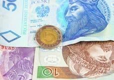 Pools zloty muntgeld Stock Afbeelding