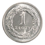 Pools zloty muntstuk Stock Fotografie