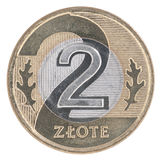 2 Pools zloty muntstuk Royalty-vrije Stock Foto's