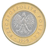 2 Pools zloty muntstuk Stock Foto
