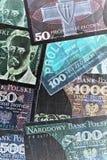 Poolse bankbiljetten Stock Fotografie