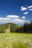 Poolse bergen Beskidy Stock Foto's
