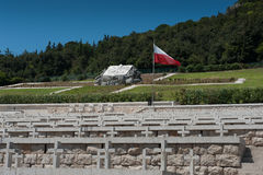 Poolse Cementry - Montecassino Royalty-vrije Stock Foto's