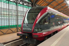 Poolse elektrische trein PESA Royalty-vrije Stock Afbeeldingen