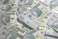 Poolse geldachtergrond Stock Fotografie