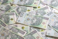 Poolse geldachtergrond Royalty-vrije Stock Afbeeldingen