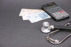 Poolse gezondheidszorgberekeningen stock afbeelding