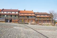 Poolse huizen Royalty-vrije Stock Afbeeldingen