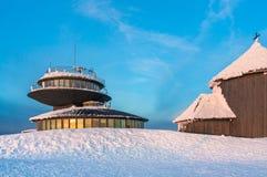 Poolse hut in de berg Snezka Royalty-vrije Stock Foto