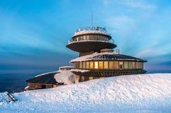 Poolse hut in de berg Snezka Stock Foto's