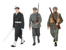 Poolse Legeruniformen Stock Afbeelding