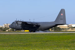 Poolse Luchtmacht Hercules Stock Foto
