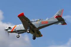 Poolse Luchtmacht PZL-Okecie pzl-130 tc-1 Orlik-schroefturbine, enige motor, twee vliegtuigen van de zeteltrainer Royalty-vrije Stock Foto