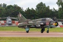 Poolse Luchtmacht Sily Powietrzne Sukhoi su-22 Geschiktere aanvalsvliegtuigen Stock Afbeeldingen