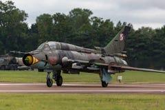Poolse Luchtmacht Sily Powietrzne Sukhoi su-22 Geschiktere aanvalsvliegtuigen Royalty-vrije Stock Afbeelding