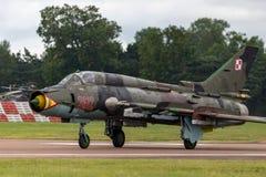 Poolse Luchtmacht Sily Powietrzne Sukhoi su-22 Geschiktere aanvalsvliegtuigen Royalty-vrije Stock Afbeeldingen