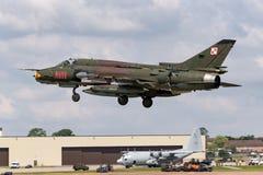 Poolse Luchtmacht Sily Powietrzne Sukhoi su-22 Geschiktere aanvalsvliegtuigen Stock Foto's