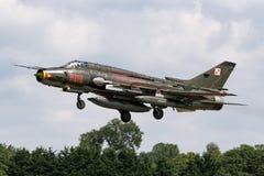 Poolse Luchtmacht Sily Powietrzne Sukhoi su-22 Geschiktere aanvalsvliegtuigen Stock Foto