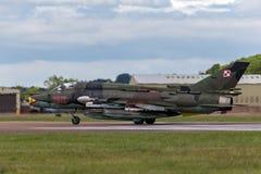 Poolse Luchtmacht Sily Powietrzne Sukhoi su-22 Geschiktere aanvalsvliegtuigen Stock Fotografie