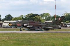 Poolse Luchtmacht Sily Powietrzne Sukhoi su-22 Geschiktere aanvalsvliegtuigen Royalty-vrije Stock Fotografie