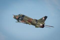 Poolse Luchtmacht SU 22 Geschiktere vliegtuigen Stock Foto's