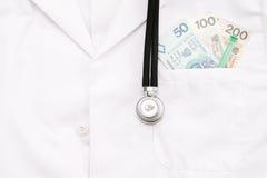 Poolse medische kosten stock fotografie