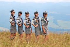 Poolse meisjesverkenners Stock Afbeelding