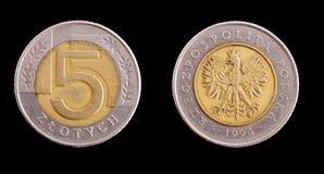 Poolse muntstukken Stock Foto's
