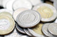 Poolse muntstukken Stock Foto