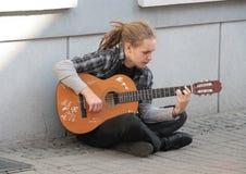 Poolse Musicus Stock Foto's