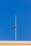 Poolse nationale vlag Royalty-vrije Stock Afbeelding