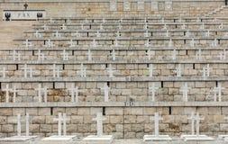 Poolse Oorlogsbegraafplaats in Monte Cassino Royalty-vrije Stock Foto