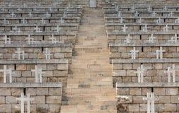 Poolse Oorlogsbegraafplaats in Monte Cassino Royalty-vrije Stock Afbeelding