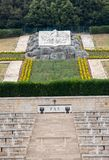 Poolse Oorlogsbegraafplaats in Monte Cassino - een necropool van Poolse militairen die in de slag van Monte Cassino van 11 tot 19 Royalty-vrije Stock Afbeeldingen