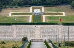 Poolse Oorlogsbegraafplaats in Monte Cassino - een necropool van Poolse militairen die in de slag van Monte Cassino van 11 tot 19 Stock Afbeeldingen