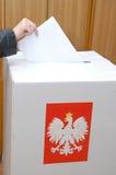 Poolse Parlementaire verkiezing Stock Foto's