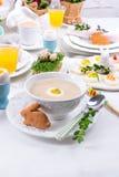 Poolse Pasen-soep stock foto